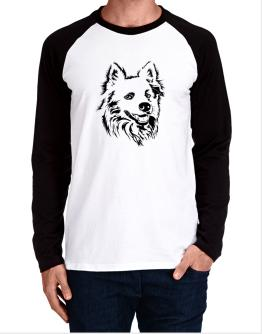 """ Australian Cattle Dog FACE SPECIAL GRAPHIC "" Long-sleeve Raglan T-Shirt"
