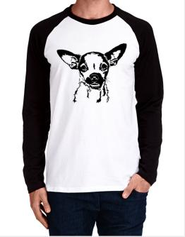 Chihuahua Face Special Graphic Long-sleeve Raglan T-Shirt