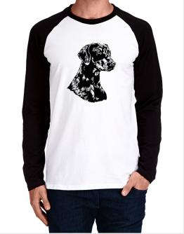 Doberman Pinscher Face Special Graphic Long-sleeve Raglan T-Shirt