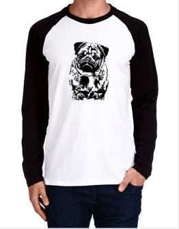 Pug Face Special Graphic Long-sleeve Raglan T-Shirt