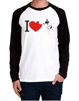 I love Australian Cattle Dogs Long-sleeve Raglan T-Shirt