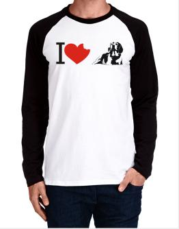 I love Beagles Long-sleeve Raglan T-Shirt