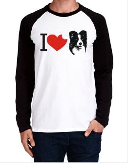 I love Border Collies Long-sleeve Raglan T-Shirt
