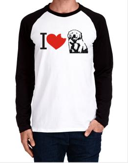 I love Golden Retrievers Long-sleeve Raglan T-Shirt