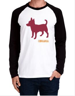 Chihuahua Stencil / Chees Long-sleeve Raglan T-Shirt
