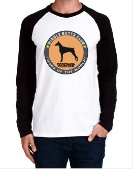 Doberman Pinscher - Wiggle Butts Club Long-sleeve Raglan T-Shirt