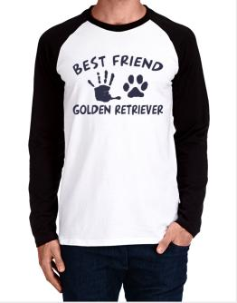 My Best Friend Is My Golden Retriever Long-sleeve Raglan T-Shirt