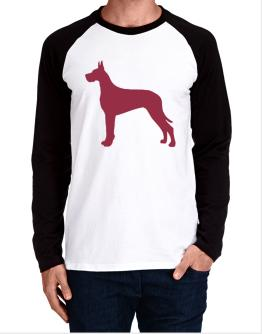 Great Dane Silhouette Embroidery Long-sleeve Raglan T-Shirt