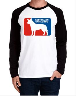 Australian Cattle Dog Sports Logo Long-sleeve Raglan T-Shirt
