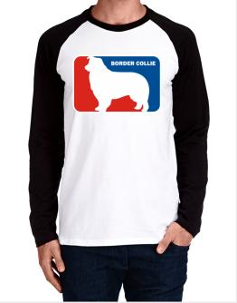 Border Collie Sports Logo Long-sleeve Raglan T-Shirt