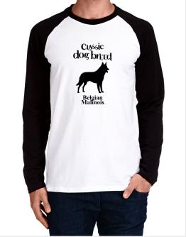 Classic Dog Breed Belgian Malinois Long-sleeve Raglan T-Shirt