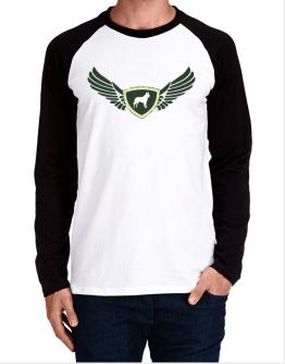 Belgian Malinois - Wings Long-sleeve Raglan T-Shirt