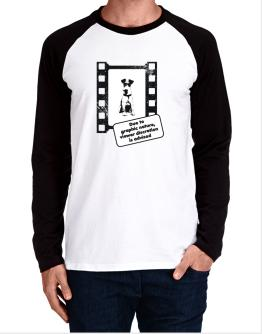 Due To The Graphic Nature, Viewer Discretion Is Advised Long-sleeve Raglan T-Shirt