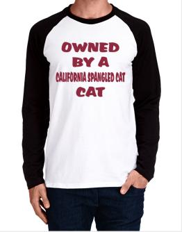 Owned By S California Spangled Cat Long-sleeve Raglan T-Shirt