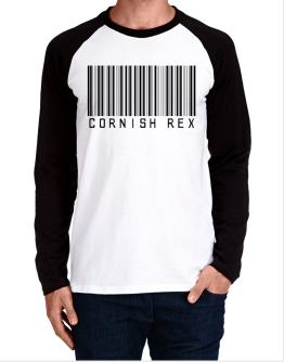 Cornish Rex Barcode Long-sleeve Raglan T-Shirt