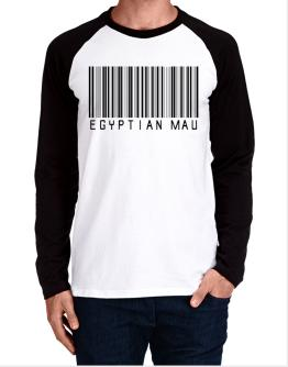Egyptian Mau Barcode Long-sleeve Raglan T-Shirt