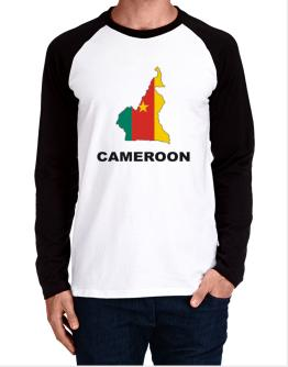 Cameroon - Country Map Color Long-sleeve Raglan T-Shirt