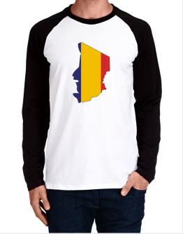 Chad - Country Map Color Simple Long-sleeve Raglan T-Shirt