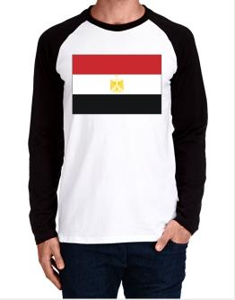 Egypt Flag Long-sleeve Raglan T-Shirt