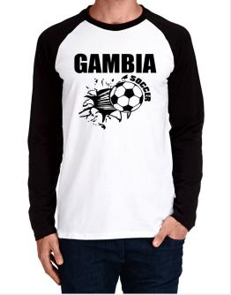 All Soccer Gambia Long-sleeve Raglan T-Shirt
