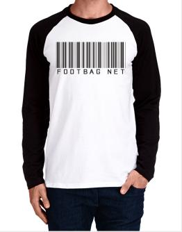 Footbag Net Barcode / Bar Code Long-sleeve Raglan T-Shirt