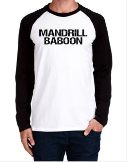 Mandrill Baboon - Vintage Long-sleeve Raglan T-Shirt
