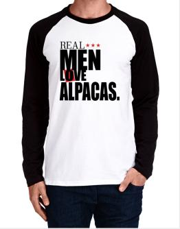 Real Men Love Alpacas Long-sleeve Raglan T-Shirt