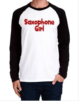 Saxophone Girl Long-sleeve Raglan T-Shirt