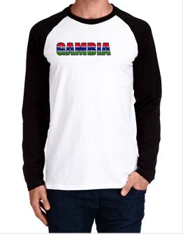 Gambia Flag Long-sleeve Raglan T-Shirt