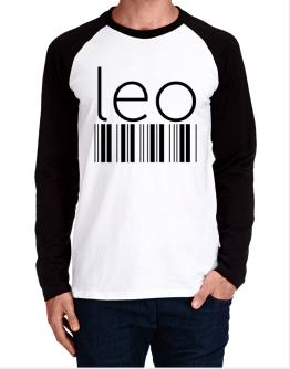 Leo barcode Long-sleeve Raglan T-Shirt