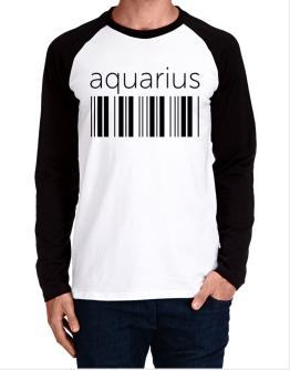Aquarius barcode Long-sleeve Raglan T-Shirt