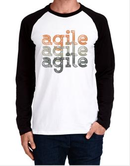 agile repeat retro Long-sleeve Raglan T-Shirt