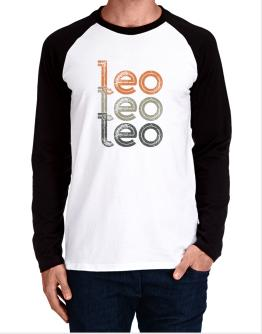 Leo repeat retro Long-sleeve Raglan T-Shirt
