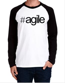 Hashtag agile Long-sleeve Raglan T-Shirt