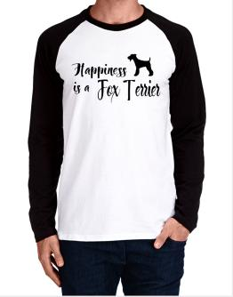 Happiness is a Fox Terrier Long-sleeve Raglan T-Shirt