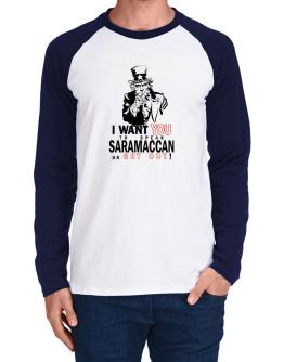 I Want You To Speak Saramaccan Or Get Out! Long-sleeve Raglan T-Shirt