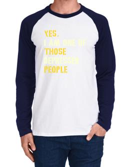 """ Those depressed people "" Long-sleeve Raglan T-Shirt"