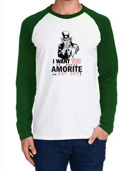 I Want You To Speak Amorite Or Get Out! Long-sleeve Raglan T-Shirt