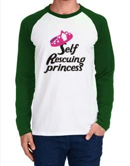 Self Rescuing Princess Long-sleeve Raglan T-Shirt
