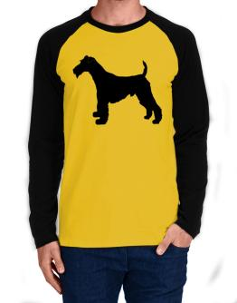 Fox Terrier Wire silhouette Long-sleeve Raglan T-Shirt