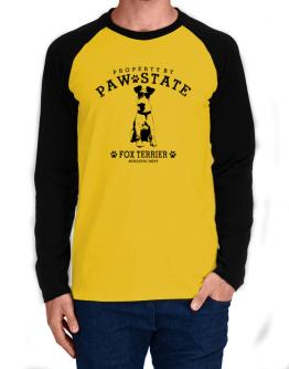 Property by paw state Fox Terrier Long-sleeve Raglan T-Shirt