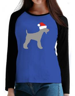 Fox Terrier christmas T-Shirt - Raglan Long Sleeve-Womens