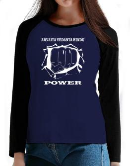Advaita Vedanta Hindu Power T-Shirt - Raglan Long Sleeve-Womens