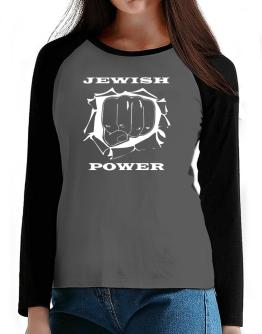 Jewish Power T-Shirt - Raglan Long Sleeve-Womens