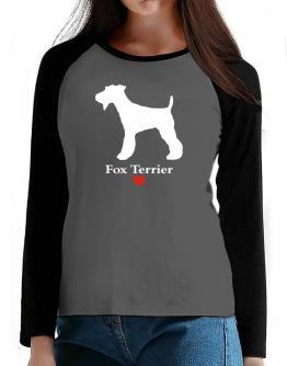 Fox Terrier love T-Shirt - Raglan Long Sleeve-Womens