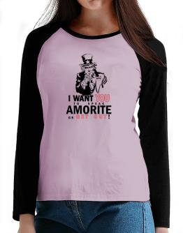 I Want You To Speak Amorite Or Get Out! T-Shirt - Raglan Long Sleeve-Womens