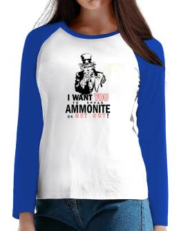 I Want You To Speak Ammonite Or Get Out! T-Shirt - Raglan Long Sleeve-Womens