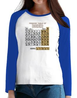 Periodic Table of Beer T-Shirt - Raglan Long Sleeve-Womens