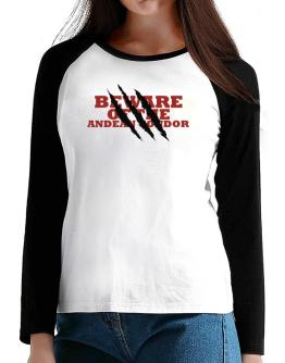 Beware Of The Andean Condor T-Shirt - Raglan Long Sleeve-Womens