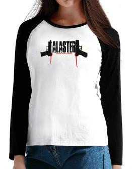 Alaster - Blood And Bullets T-Shirt - Raglan Long Sleeve-Womens
